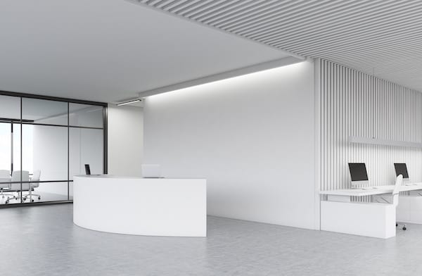 office reception LED lighting - AFS Electrical Services