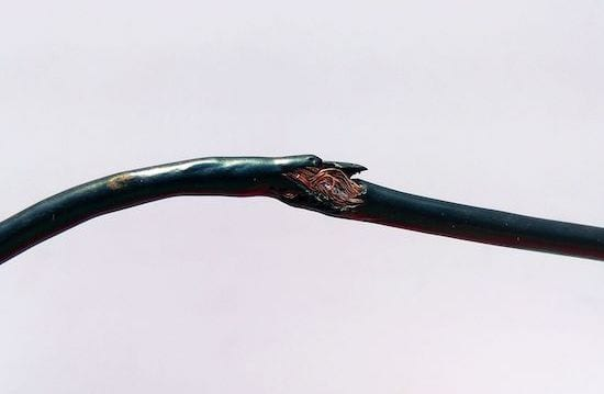 damaged cable - electrical check - Glasgow