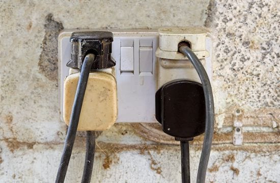 overloaded socket - electrical inspection - AFS Electrical Services